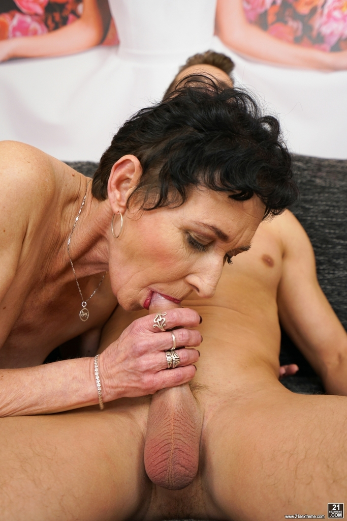 old women sucking young dick